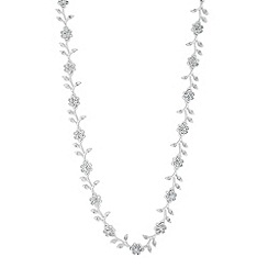 Jon Richard - Vine crystal encased link necklace