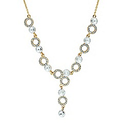 Jon Richard - Round crystal and ring drop necklace MADE WITH SWAROVSKI ELEMENTS