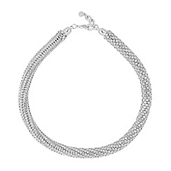 Jon Richard - Statement diamante crystal twist necklace