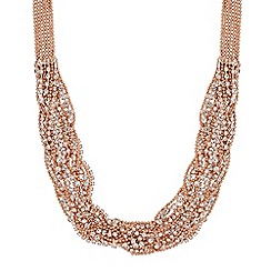 Jon Richard - Rose gold diamante crystal chain necklace