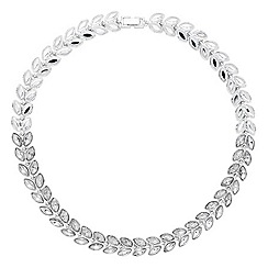 Jon Richard - Navette crystal double row necklace