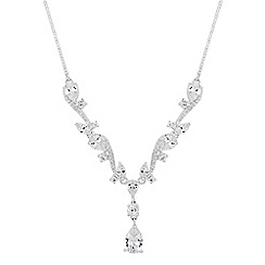 Jon Richard - Cubic zirconia embellished twist teardrop necklace