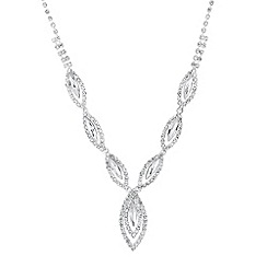 Jon Richard - Navette drop diamante surround necklace