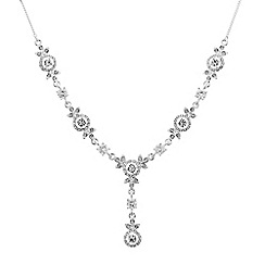 Alan Hannah Devoted - Designer cubic zirconia and crystal flower necklace