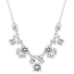 Alan Hannah Devoted - Designer cubic zirconia cluster link necklace