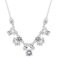 Alan Hannah Devoted - Designer cubic zirconia cluster link necklace