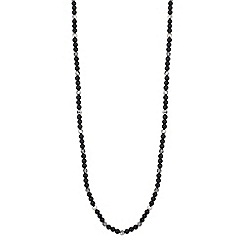 Jon Richard - Jet pearl and facet bead long necklace