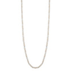 Jon Richard - Cream pearl and facet bead long necklace
