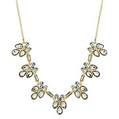 Jon Richard - Crystal cluster gold link necklace