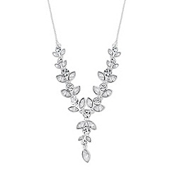 Jon Richard - Crystal navette and circular y drop necklace