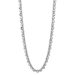Jon Richard - Round crystal and polished ball chain necklace
