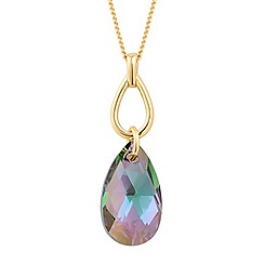 Jon Richard - Paradise shine crystal teardrop necklace MADE WITH SWAROVSKI ELEMENTS