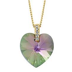 Jon Richard - Paradise shine crystal heart necklace MADE WITH SWAROVSKI ELEMENTS