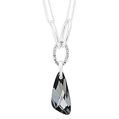 Jon Richard - Silver crystal night wing pendant necklace MADE WITH SWAROVSKI ELEMENTS