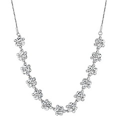 Alan Hannah Devoted - Designer crystal cluster link necklace