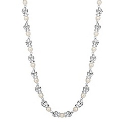 Alan Hannah Devoted - Designer navette cluster pearl link necklace