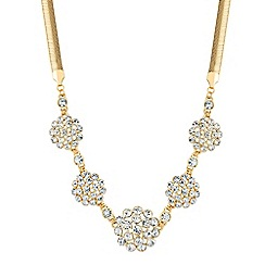 Jon Richard - Gold crystal cluster bubble necklace