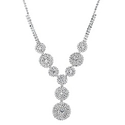 Jon Richard - Diamante embellished circular drop necklace