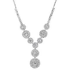 Jon Richard - Diamante embellished circular drop necklace