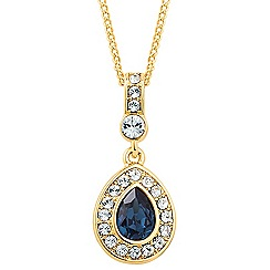 Jon Richard - Montana blue crystal peardrop necklace MADE WITH SWAROVSKI ELEMENTS