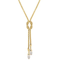 Jon Richard - Gold crystal lariat necklace MADE WITH SWAROVSKI ELEMENTS