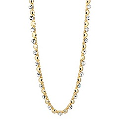 Jon Richard - Round crystal and gold ball chain necklace