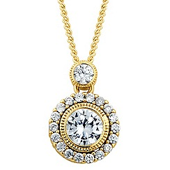 Alan Hannah Devoted - Designer Clara cubic zirconia round drop necklace