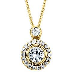 Alan Hannah Devoted - Designer Clara cubic zirconia round drop necklace