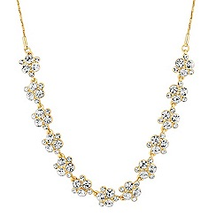 Alan Hannah Devoted - Designer gold crystal bubble link necklace