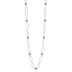Jon Richard - Grey pearl and open link long necklace