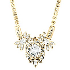 Jon Richard - Statement hexagon cluster surround necklace