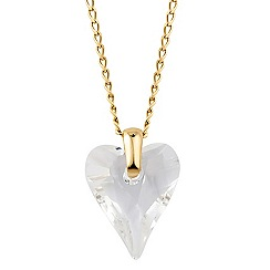 Jon Richard - Wild crystal heart drop necklace MADE WITH SWAROVSKI ELEMENTS