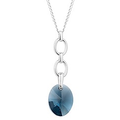 Jon Richard - Montana blue oval crystal drop necklace MADE WITH SWAROVSKI ELEMENTS
