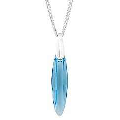 Jon Richard - Aqua eclipse crystal pendant necklace MADE WITH SWAROVSKI ELEMENTS