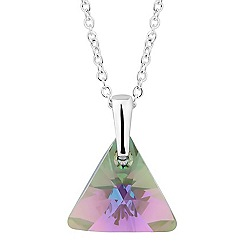 Jon Richard - Paradise shine crystal triangle necklace MADE WITH SWAROVSKI ELEMENTS