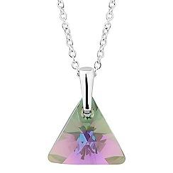 Jon Richard - Paradise shine crystal triangle necklace MADE WITH SWAROVSKI ELEMENTS