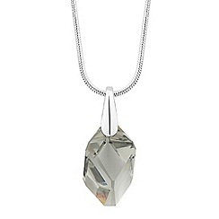 Jon Richard - Grey cubism crystal pendant necklace MADE WITH SWAROVSKI ELEMENTS