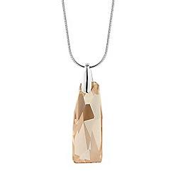 Jon Richard - Golden shadow crystal pendant necklace MADE WITH SWAROVSKI ELEMENTS