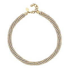Jon Richard - Diamante crystal gold twist necklace