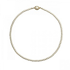 Jon Richard - Mini cream pearl oval clasp necklace