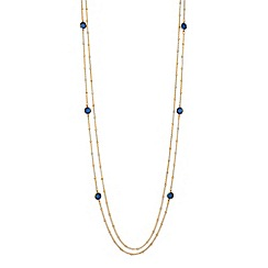 Jon Richard - Montana blue crystal multi row necklace