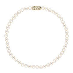 Alan Hannah Devoted - Designer pearl and gold crystal magnetic necklace