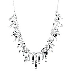 Alan Hannah Devoted - Designer baguette stone shower drop necklace