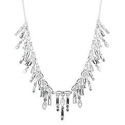 Alan Hannah Devoted - Designer baguette stone shower drop necklace