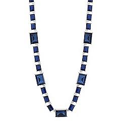 Jon Richard - Blue baguette stone link necklace