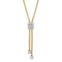 Jon Richard - Two tone popcorn chain tassel drop necklace