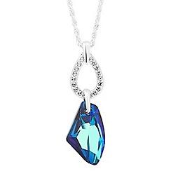 Jon Richard - Bermuda blue crystal galactic pendant necklace MADE WITH SWAROVSKI ELEMENTS