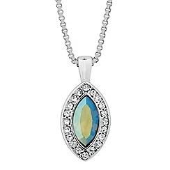 Jon Richard - Iridescent green crystal navette drop necklace MADE WITH SWAROVSKI ELEMENTS