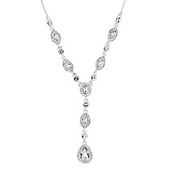 Jon Richard - Clara mixed crystal surround peardrop necklace