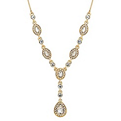 Jon Richard - Clara mixed crystal y drop necklace